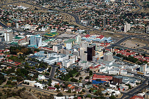 Late-May 2005 aerial photograph of Windhoek