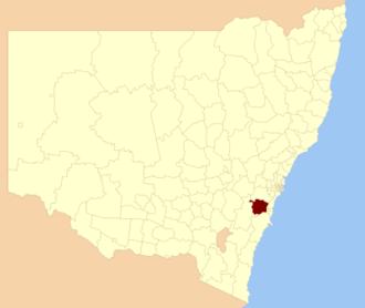 Wingecarribee Shire - Location in NSW