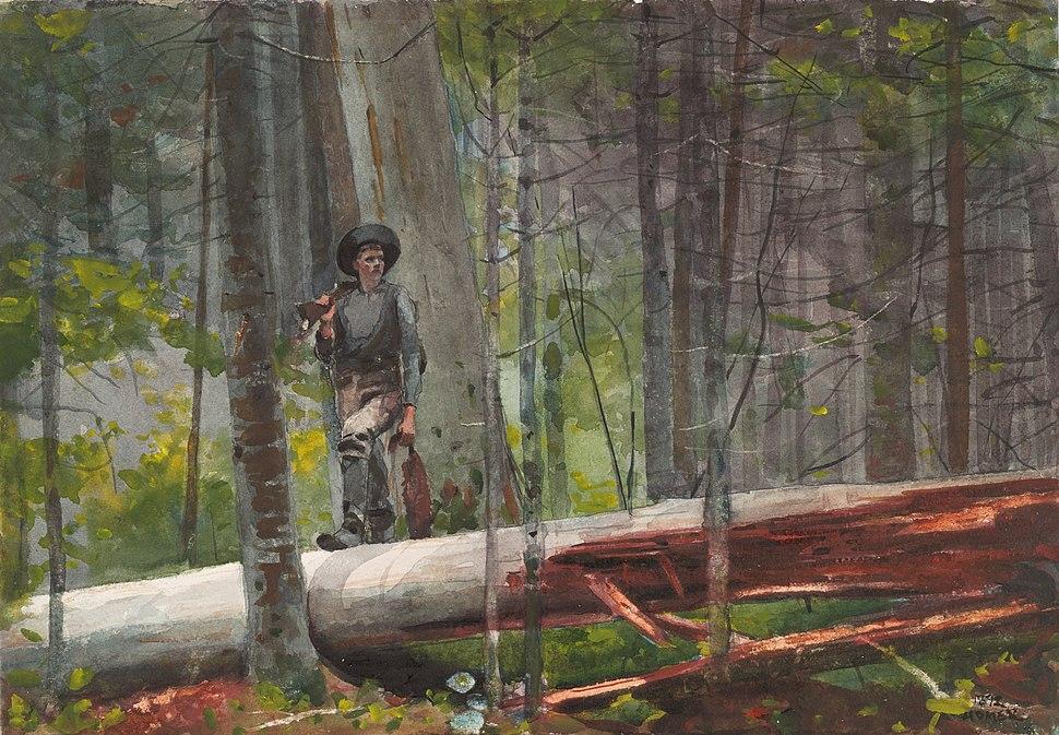 Winslow Homer - Hunter in the Adirondacks (1892)