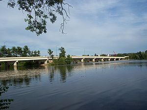 Wisconsin Rapids, Wisconsin - WIS 13 / WIS 54 bridge over the Wisconsin River in Wisconsin Rapids