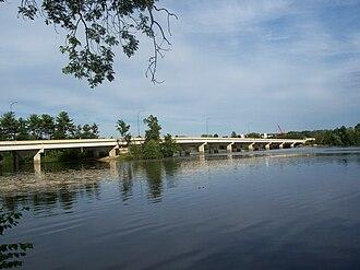 Wisconsin Rapids, Wisconsin - WIS 13 / WIS 54 bridge over the Wisconsin River in Wisconsin Rapids