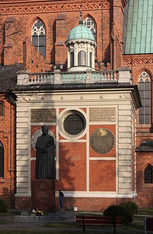 Włocławek - Sundial on the Cathedral wall