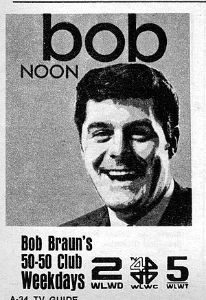 WLWT - 1969 Advertisement for The Bob Braun Show appearing in TV Guide.