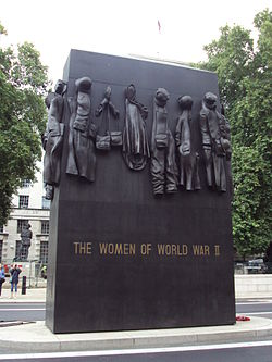 Women of World War II memorial, Whitehall - DSC08095.JPG