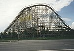Wooden roller coaster near Sandpoint, ID. Silverwood Theme Park at Athol. (1771734492).jpg