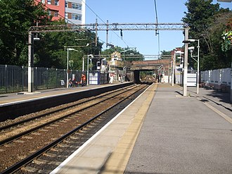 Woodgrange Park railway station - Image: Woodgrange Park stn look west
