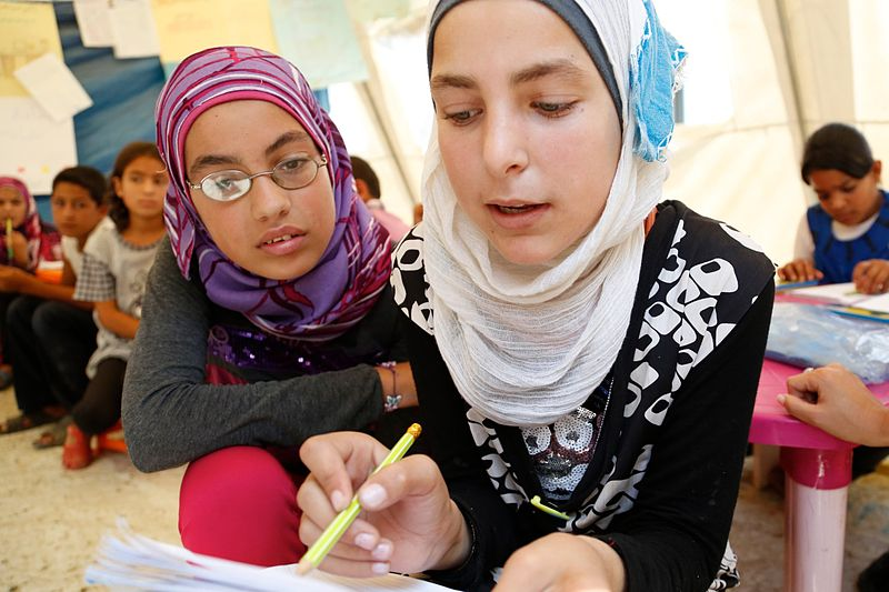File:Working together to help Syrian refugee children in Lebanon (15089979007).jpg