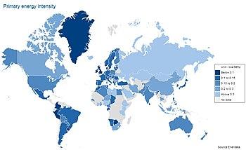 Liste Des Pays Par Intensite Energetique Wikipedia