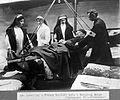 World War One; lowering a soldier into a hospital barge Wellcome L0009162.jpg