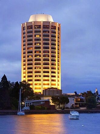 Wrest Point Hotel Casino - Wrest Point Casino at Night