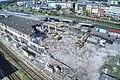 Wyburzanie dworca we Włocławku - widok od strony torów.jpg