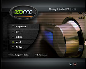 Deutsch: XBMC Screenshot