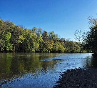 Yadkin–Pee Dee River Basin - The Yadkin River near Tobaccoville, NC