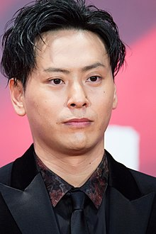 "Yamashita Kenjiro (Sandaime J Soul Brothers) from ""our blue moment"" at Opening Ceremony of the Tokyo International Film Festival 2017 (25331728567).jpg"