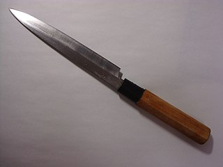 <i>Yanagi ba</i> Japanese knife for preparing sushi and sashimi