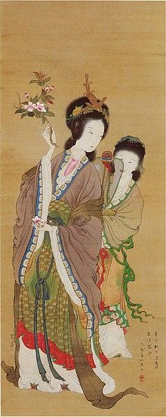 scroll painting Yang Guifei