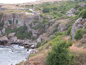 Dobruja - Rocky shores characteristic for the Southern Dobrujan coast