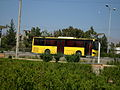 Yellow Bus for an Organization - Road 44 east of Iran - near Simorgh Culture house - Nishapur 6.JPG