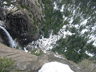 Yosemite Falls - Lower Fall as viewed from trail