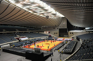 Yoyogi National Gymnasium - Interior of the Yoyogi National Gymnasium