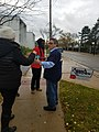 Ypsilanti mayoral candidates Anne Brown and Beth Bashert electioneering at EMU Honors College polling place (1).jpg