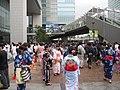 Yukata girls in Akihabara Station Square.jpg
