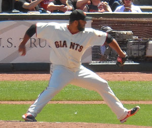 2014 World Series - Yusmeiro Petit pitched three scoreless innings for the Giants in Game 4