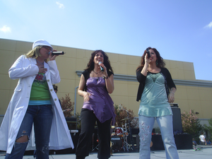 ZOEgirl - ZOEgirl at the Jump5 tour in 2005. From left to right: Chrissy, Alisa, and Kristin.