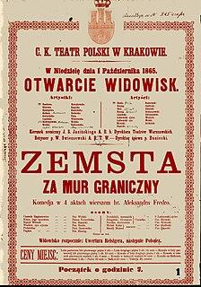 Zemsta 1838 play written by Aleksander Fredro