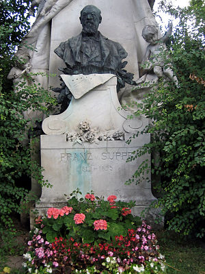 Franz von Suppé - Suppé's grave at the Zentralfriedhof