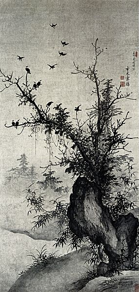 File:Zhou Wenjing-Ancient Tree and Jackdaws.jpg