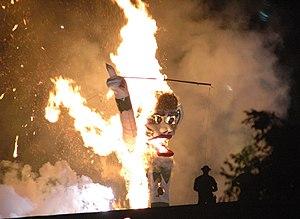 Zozobra - Zozobra burning in 2005