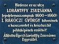 Zsuzsanna Lorántffy plaque Bp04 Lorántffy Zsuzsanna2.jpg