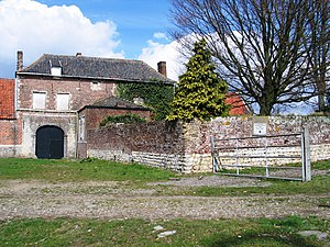Alexander George Woodford - The Château d'Hougoumont held by Woodford during the closing stages of the Battle of Waterloo