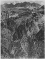 """""""North Palisades from Windy Point, Kings River Canyon (Proposed as a national park),"""" California, 1936. (vertical orient - NARA - 519934.tif"""