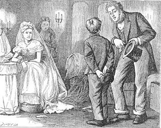 Great Expectations - Pip is ashamed of Joe at Satis House, by F. A. Fraser