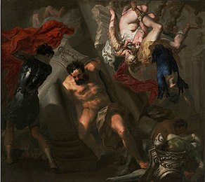 'The Death of Samson', probably Genoese School, Getty Center.JPG