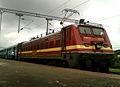 (22214) WAP-4 Loco with Goutami Express (empty rakes) at Lingampalli 06.jpg