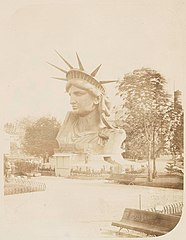 (Head of the Statue of Liberty on display in a park in Paris - (3110143502).jpg