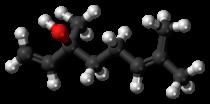 (S)-Linalool molecule ball.png