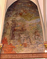 Église Saint-Nicolas de L'Hôpital, le sacrifice d'Abraham (fresque).jpg