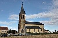 Église de l'Invention de Saint-Etienne, Escaunets, France.jpg