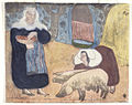 Émile Bernard Femmes au porcs (Women with Pigs) print 1889.jpg