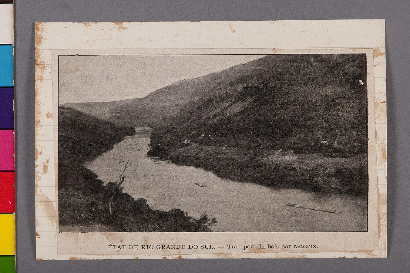 État de Rio Grande do Sul - Transport du Bois Par Radeaux