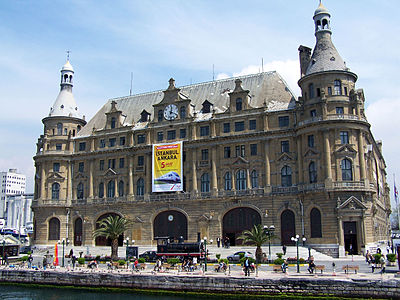 ...and the distinctly Teutonic Haydarpaşa Station, which provided the first sight of Europe for many passengers from faraway parts of Asia since 1908.