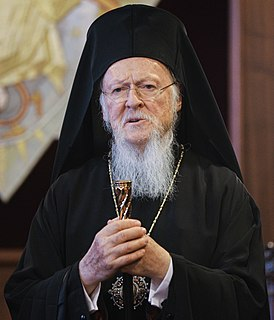 Bartholomew I of Constantinople Ecumenical Patriarch of Constantinople