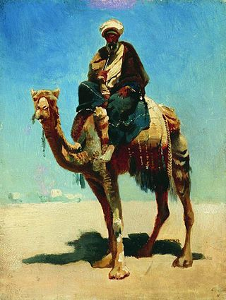 Араб на верблюде, 1869-1870