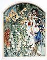 Врубель М. А. Фауст и Маргарита в саду. Эскиз панно для готического кабинета в особняке А. В. Морозова в Москве. 1896.jpg