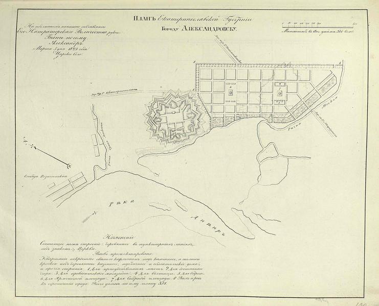 План Александровска и крепости