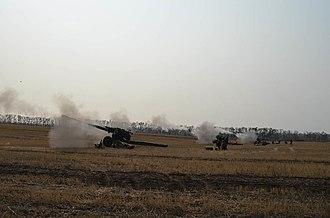 152 mm howitzer 2A65 - Image: Черговий етап змагань на кращу артилерійську батарею Сухопутних військ 06